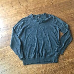 Forever 21 Men L  Pullover V Neck Gray 100
